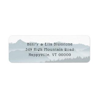 Étiquettes de adresse de retour de montagnes