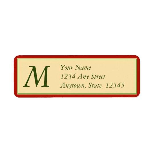 Étiquettes de adresse de retour de Noël avec le mo