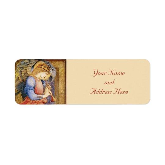 Étiquettes de adresse de retour de Noël d'ange