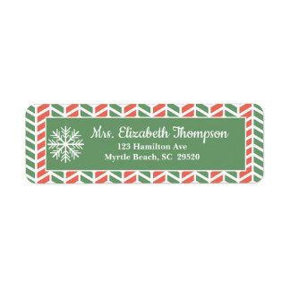 Étiquettes de adresse de retour de Noël de flocon
