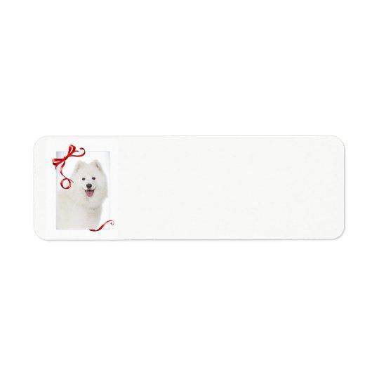Étiquettes de adresse de retour de Noël de Samoyed