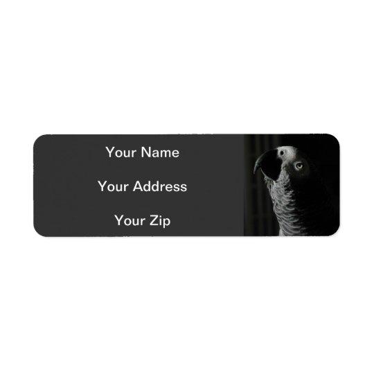 Étiquettes de adresse de retour de perroquet de gr