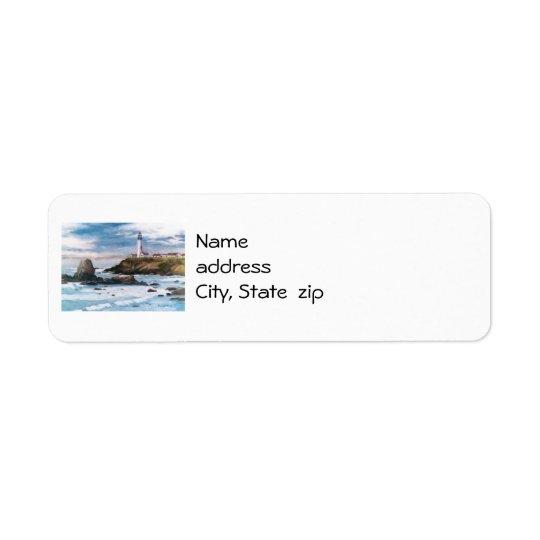 Étiquettes de adresse de retour de phare de point