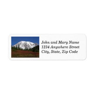 Étiquettes de adresse de retour de photo du mont