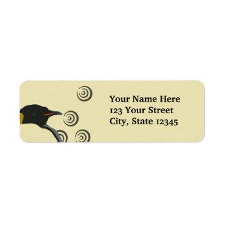 Étiquettes de adresse de retour de pingouin