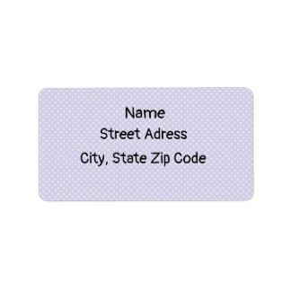 Étiquettes de adresse de retour de pois pourpre