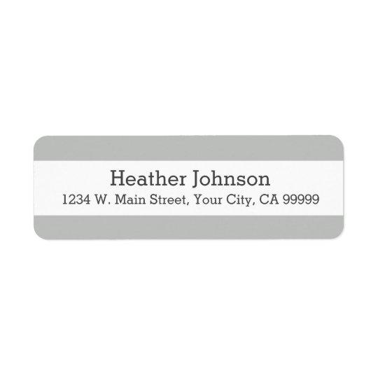 Étiquettes de adresse de retour de rayures