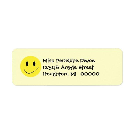Étiquettes de adresse de retour de rétros grimaces