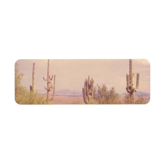 Étiquettes de adresse de retour de rêve de désert