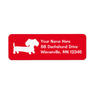 Étiquettes de adresse de retour de rouge de chien