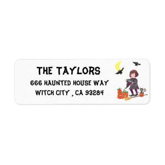Étiquettes de adresse de retour de sorcière de