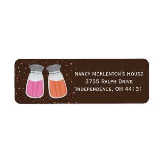 Étiquettes de adresse de retour de sucre et