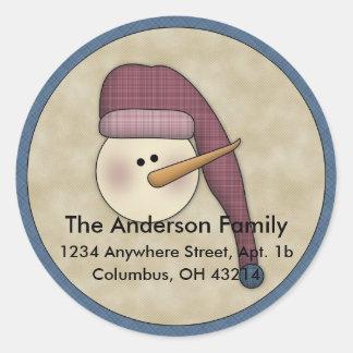 Étiquettes de adresse de retour des vacances D2 de Sticker Rond