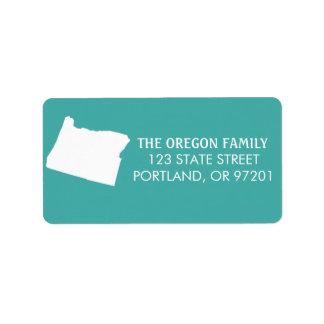 Étiquettes de adresse de retour d'état de l'Orégon