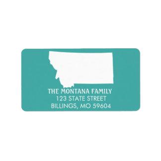 Étiquettes de adresse de retour d'état du Montana