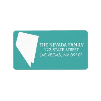 Étiquettes de adresse de retour d'état du Nevada -