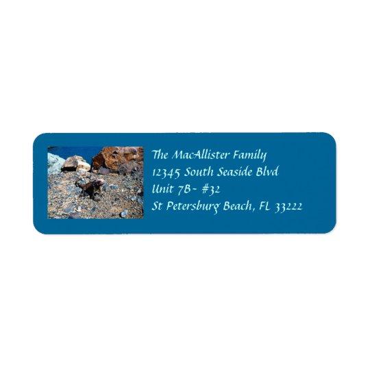 Étiquettes de adresse de retour d'iguane