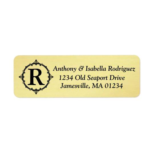 Étiquettes de adresse de retour d'or avec le