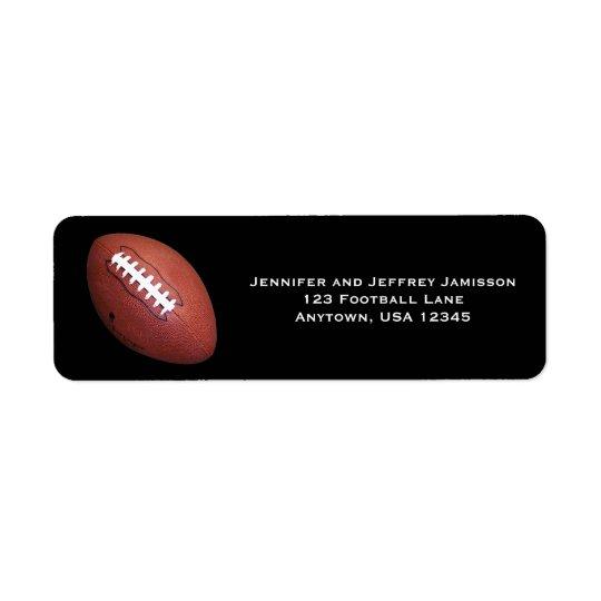 Étiquettes de adresse de retour du football sur le