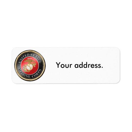 Étiquettes de adresse de retour d'usmc
