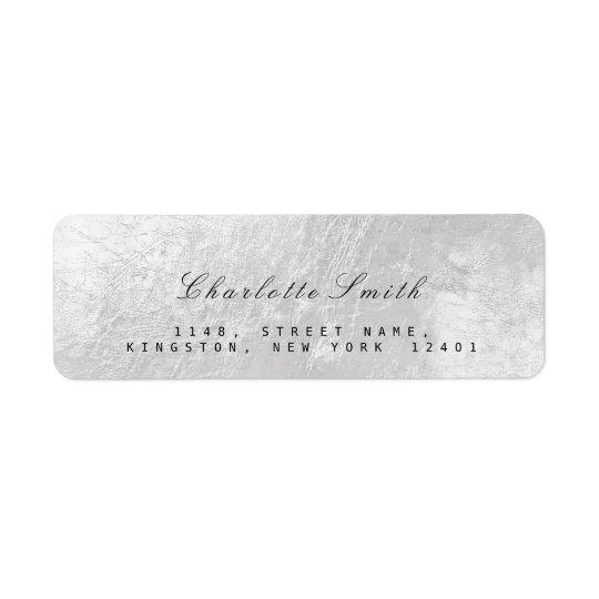 Étiquettes de adresse de retour en métal