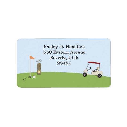 Étiquettes de adresse de retour/expédition de golf