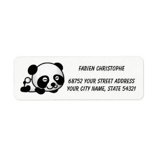 Étiquettes de adresse de retour. Panda