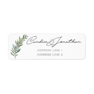 Étiquettes de adresse de retour pour Candice