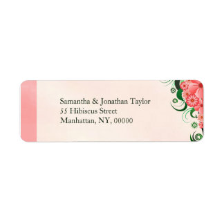 Étiquettes de adresse de retour roses floraux de
