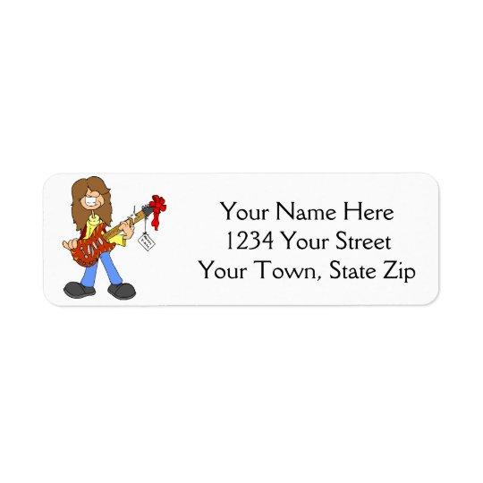 Étiquettes de adresse de type de balancier de Noël