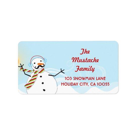 Étiquettes de adresse de vacances de Noël de