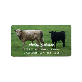 Étiquettes de adresse de vaches