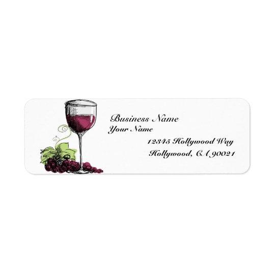 Étiquettes de adresse de vigne