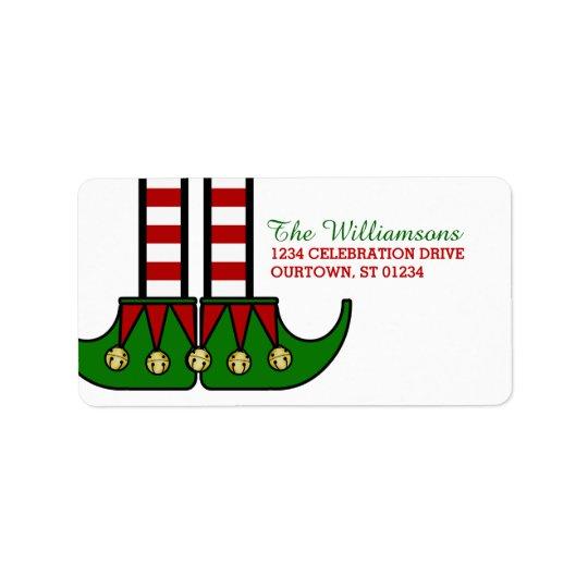 Étiquettes de adresse d'Elf de Noël