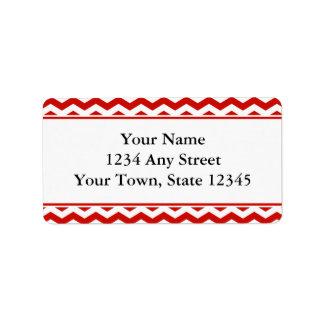 Étiquettes de adresse d'enveloppe de Chevron