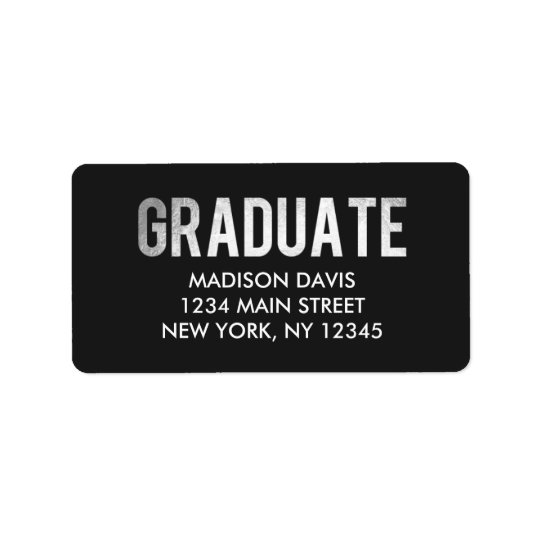 Étiquettes de adresse d'obtention du diplôme