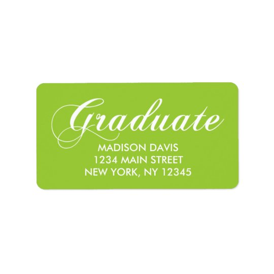 Étiquettes de adresse d'obtention du diplôme de