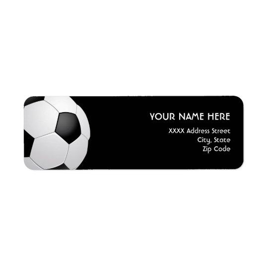 Étiquettes de adresse du football