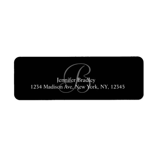 Étiquettes de adresse du monogramme B