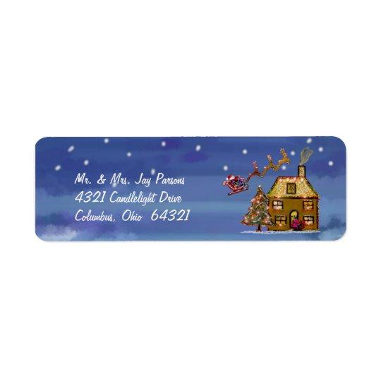 Étiquettes de adresse d'une nuit de Noël