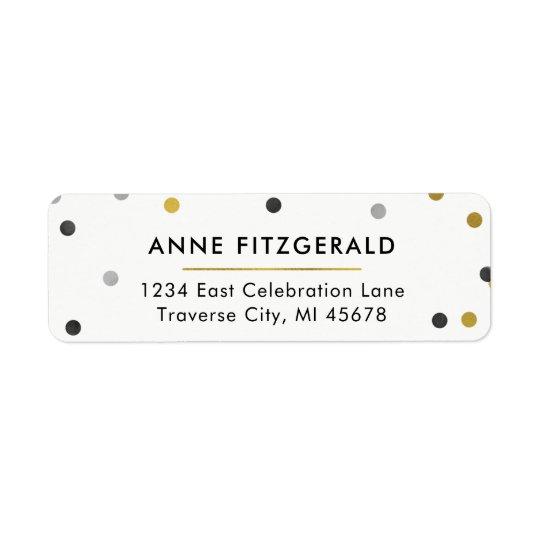 Étiquettes de adresse élégants de retour de
