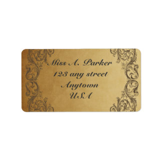 Étiquettes de adresse élégants fleuris baroques étiquettes d'adresse