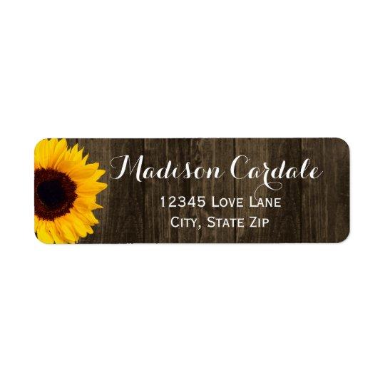 Étiquettes de adresse en bois de retour de