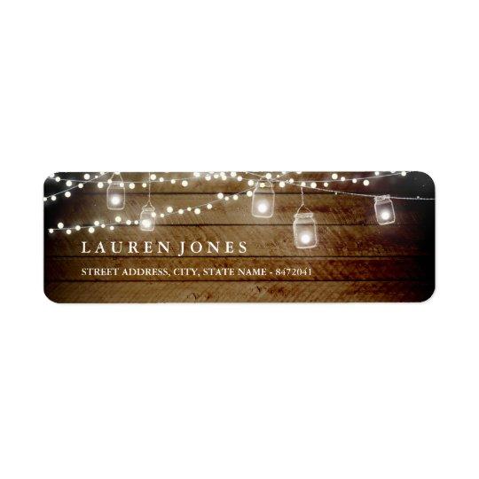 Étiquettes de adresse en bois rustiques de pot de