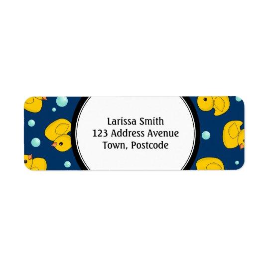 Étiquettes de adresse en caoutchouc de canard