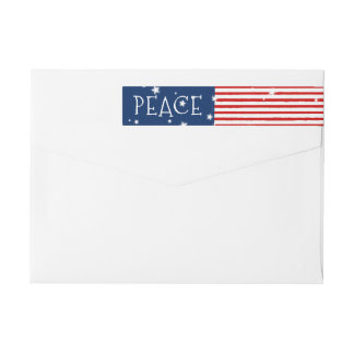 Étiquettes de adresse enveloppants patriotiques de