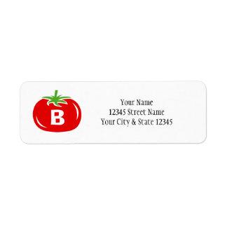 Étiquettes de adresse faits sur commande de retour