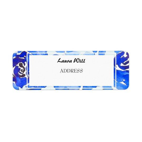 Étiquettes de adresse floraux de retour de mariage