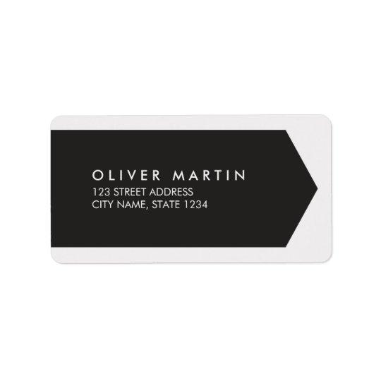 Étiquettes de adresse foncés et gris-clair