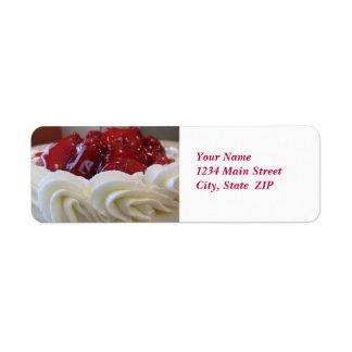 Étiquettes de adresse--Gâteau de fraise